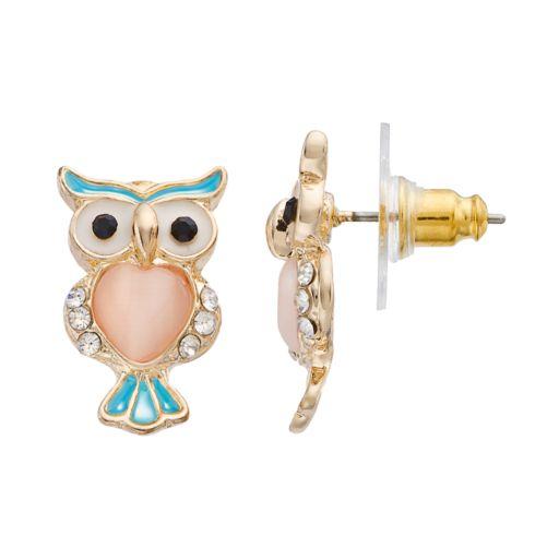 LC Lauren Conrad Owl Stud Earrings