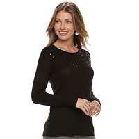 Women's Apt. 9® Embellished Yoke Sweater