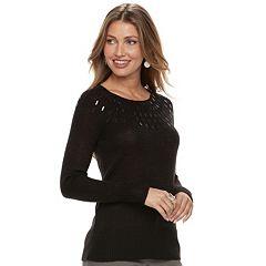 Women's Apt. 9® Embellished Yoke Sweater