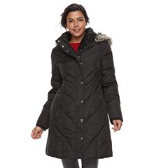 Women's TOWER by London Fog Down Faux-Fur Trim Puffer Jacket