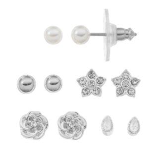 LC Lauren Conrad Star & Flower Stud Earring Set