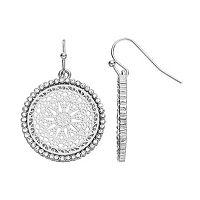 LC Lauren Conrad Openwork Medallion Drop Earrings