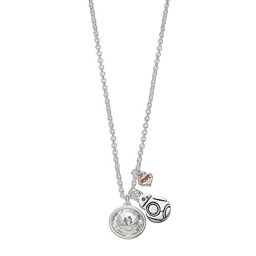 Star Wars Silver Plated Crystal BB-8 Pendant