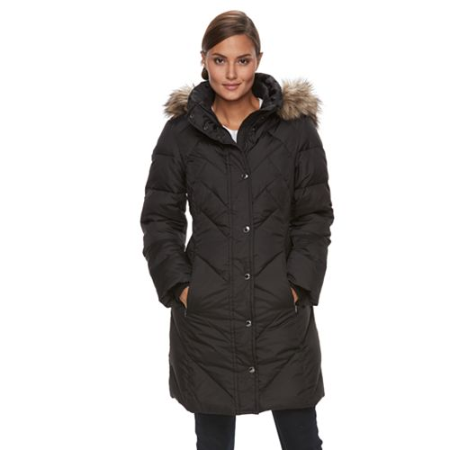a535ae2b3 Women s TOWER by London Fog Quilted Faux-Fur Trim Coat