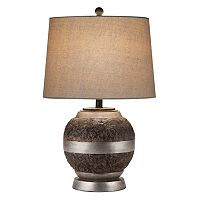 Catalina Lighting Rustic Industrial Table Lamp