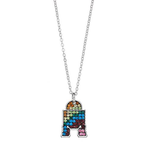 Star Wars Silver Plated Crystal R2-D2 Pendant