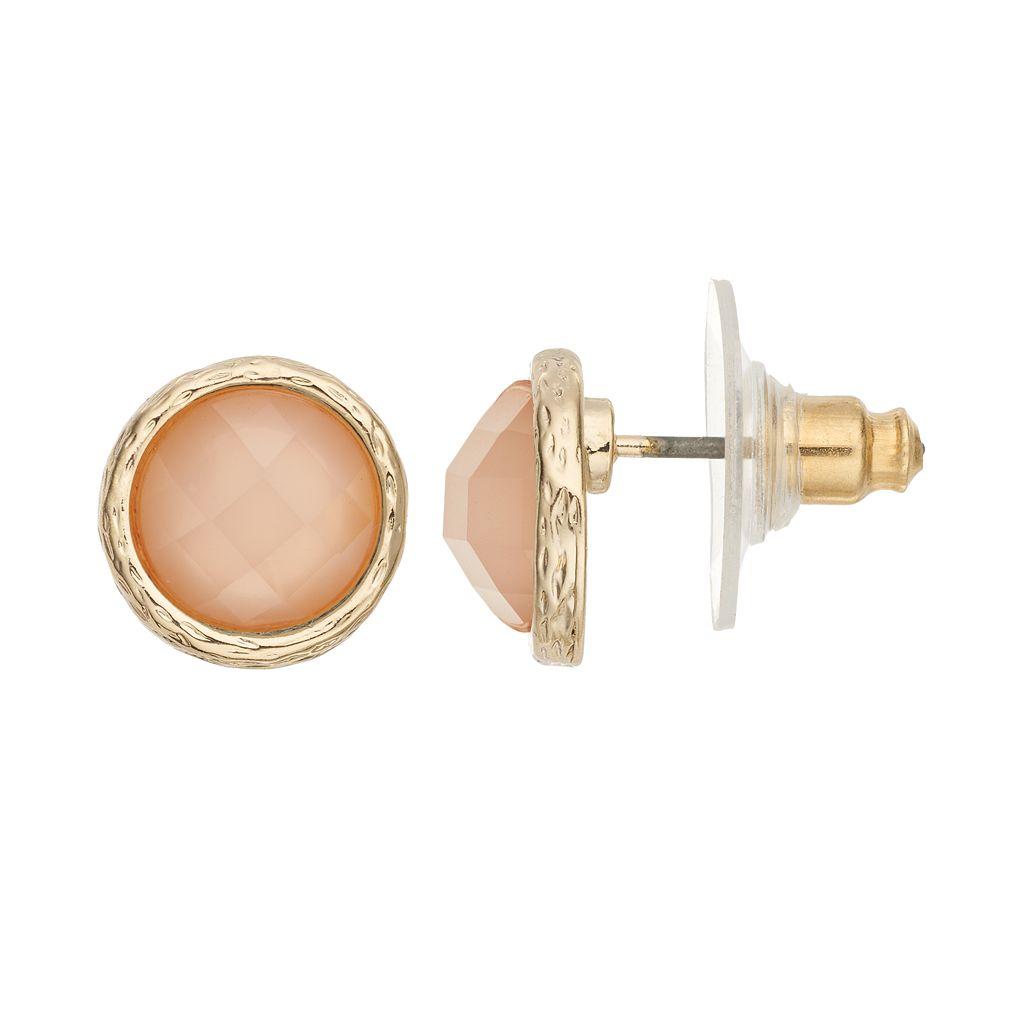 LC Lauren Conrad Round Button Stud Earrings
