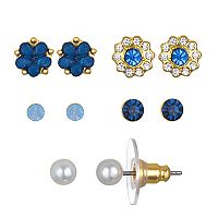 LC Lauren Conrad Flower Stud Earring Set
