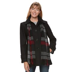 Women's TOWER by London Fog Wool Blend Scarf Jacket