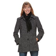 Women's TOWER by London Fog Wool Blend Scarf Jacket