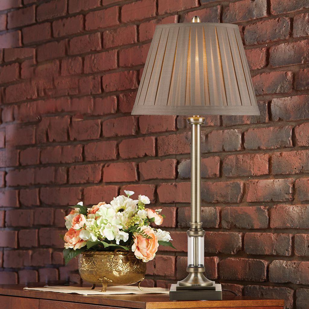 Catalina Lighting Brass Finish Buffet Table Lamp