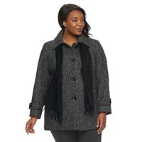 Plus Size TOWER by London Fog Wool Blend Scarf Jacket