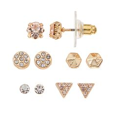 LC Lauren Conrad Geometric Stud Earring Set