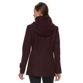 Women's TOWER by London Fog Wool Blend Hooded Jacket