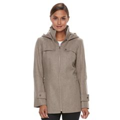 Women's TOWER by London Fog Wool Blend Hooded Jacket