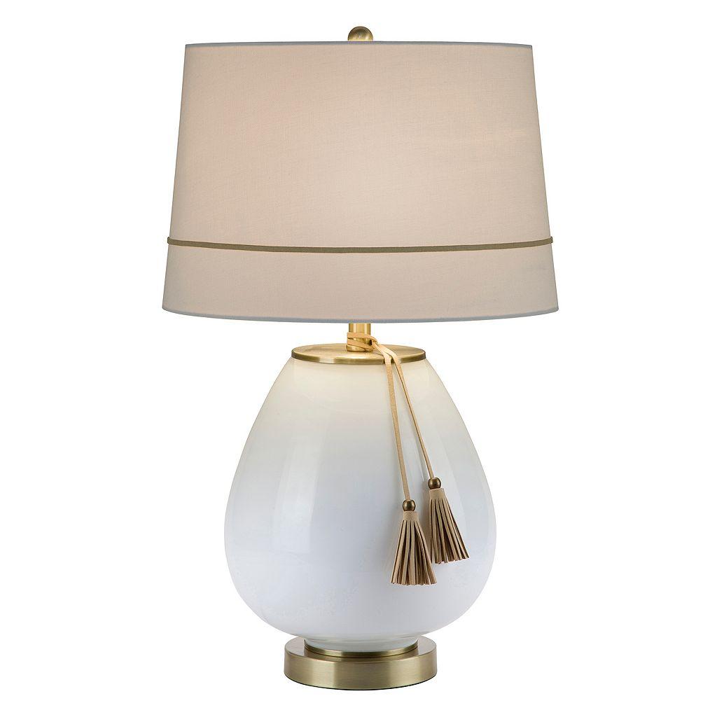 Catalina Lighting White Teardrop Table Lamp