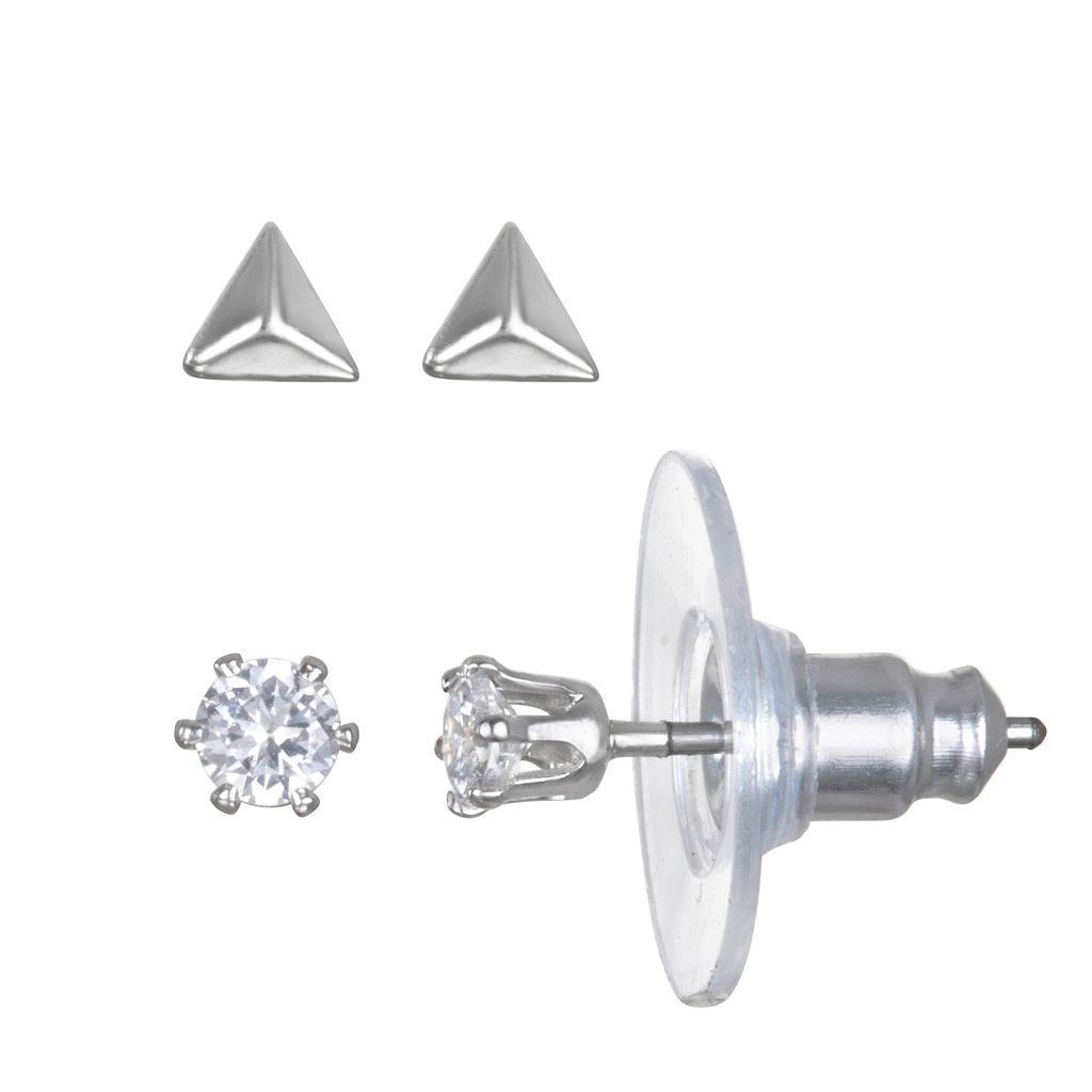 LC Lauren Conrad Triangle Stud Earring Set