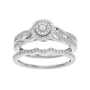 Always Yours 1/4 Carat T.W. Diamond Engagement Ring Set