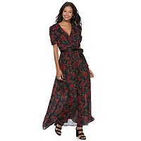 Disney•Pixar Coco Juniors' Floral Surplice Maxi Dress