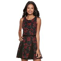 Disney•Pixar Coco Juniors' Floral & Lace A-Line Dress