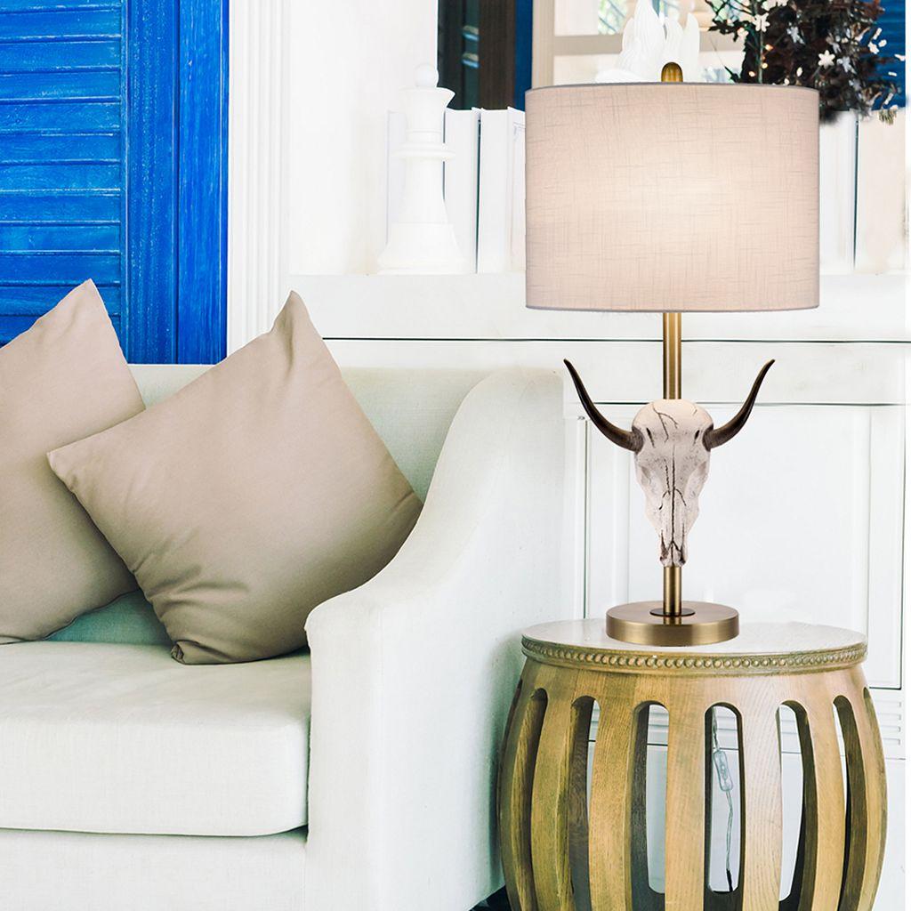 Catalina Lighting Artificial Bull Head Table Lamp