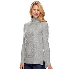 Women's SONOMA Goods for Life™ Cable Knit Turtleneck Sweater