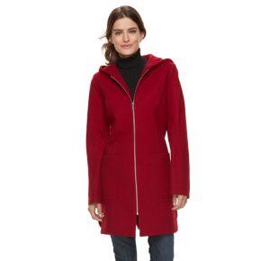 Women's TOWER by London Fog Hooded Wool Blend Coat