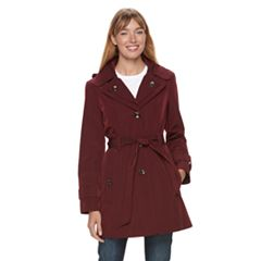 Women's TOWER by London Fog Hooded Raincoat