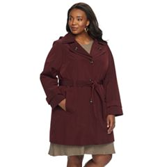 Plus Size TOWER by London Fog Hooded Raincoat