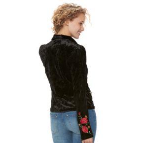 Disney / Pixar Coco Juniors' Floral Velvet Moto Jacket