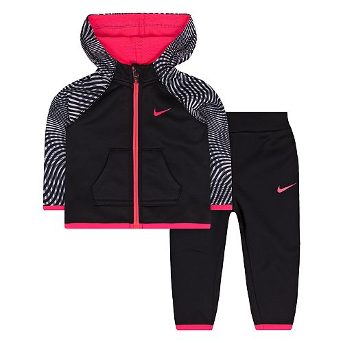 799c8fcd1 Baby Girl Nike Therma-FIT Hoodie & Jogger Pants Set
