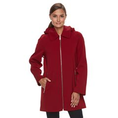 Women's TOWER by London Fog Hooded Rain Coat