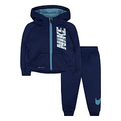 Baby Boy Nike Therma Zip Logo Hoodie & Pants Set