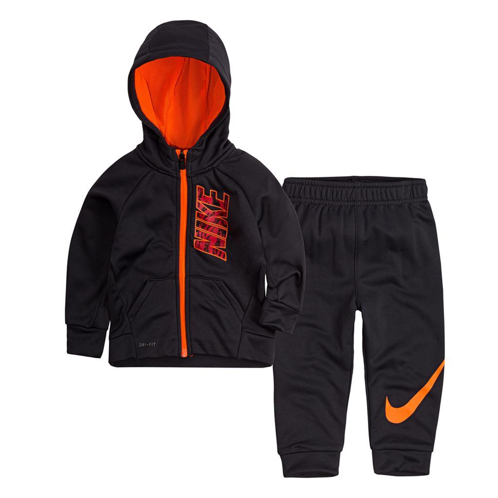 Baby Boy Nike Therma Zip Logo Hoodie & Pants Set