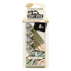 Yankee Candle Sage & Citrus Car Vent Clip 4-piece Set