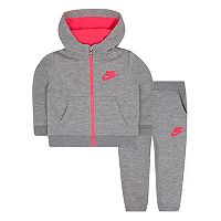 Baby Girl Nike Fleece Hoodie & Jogger Pants Set