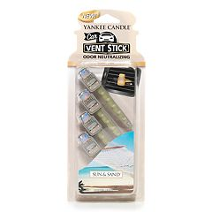 Yankee Candle Sun & Sand Car Vent Stick 4-piece Set