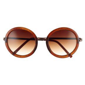 LC Lauren Conrad Runway Collection 52mm Myth Round Sunglasses