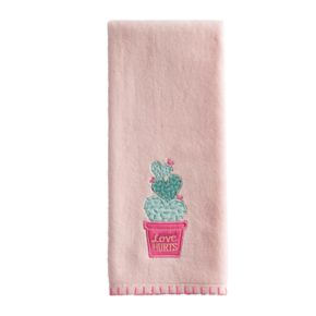 "Celebrate Valentine's Day Together ""Love Hurts"" Cactus Hand Towel"