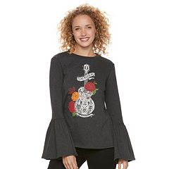 Disney•Pixar Coco Juniors' Bell Sleeve Graphic Sweatshirt