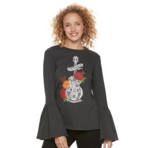 Disney / Pixar Coco Juniors' Bell Sleeve Graphic Sweatshirt