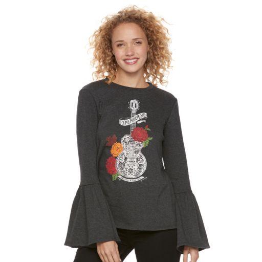 Disney / Pixar Coco Juniors' Bell Sleeve Graphic Sweatshirt