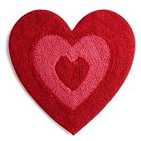 Celebrate Valentine's Day Together Reversible Heart Shaped Bath Rug