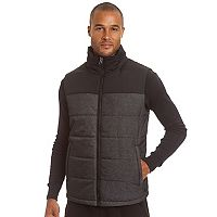 Men's Champion Colorblock Quilted Hooded Puffer Vest