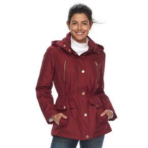 Women's FOG by London Fog Hooded Rain Jacket