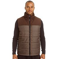 Big & Tall Champion Colorblock Quilted Hooded Puffer Vest