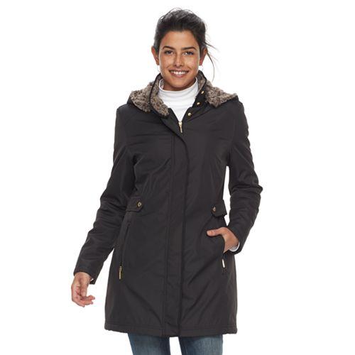 Women's Weathercast Faux-Fur Lined Coat