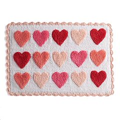 Celebrate Valentine's Day Together Heart Bath Rug