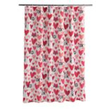 Celebrate Valentine's Day Together XOXO Hearts Shower Curtain