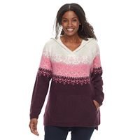 Plus Size SONOMA Goods for Life™ Fair Isle Hoodie